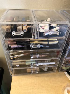 Acrylic makeup storage for Sale in Silver Spring, MD