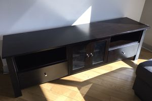 Wood TV Stand with Cabinets for Sale in Bellevue, WA