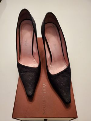 Louis Vuitton authentic black woman shoes for Sale in Sharon, MA