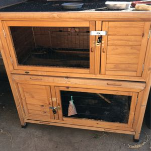 Two story Rabbit hutch, or can be two individual hutches for Sale in Sacramento, CA