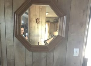 Mirror antique vintage wood hanging for Sale in Calimesa, CA