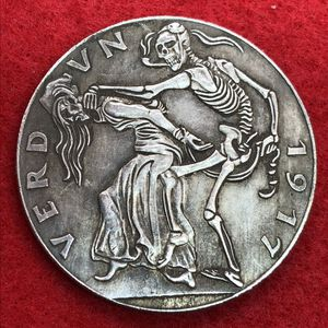 German Skeleton Art Coin. Tibetan Silver. First $20 Offer Automatically Accepted. Shipped Same Day for Sale in Damascus, OR