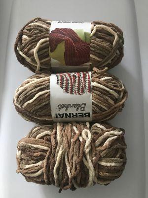 Bernat blanket yarn Sonoma multi color browns for Sale in Parkland, FL