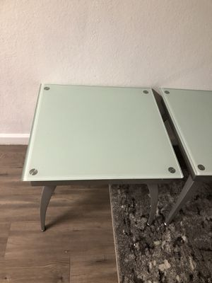 2 coffee table glass top no damage 25 each for Sale in San Jose, CA