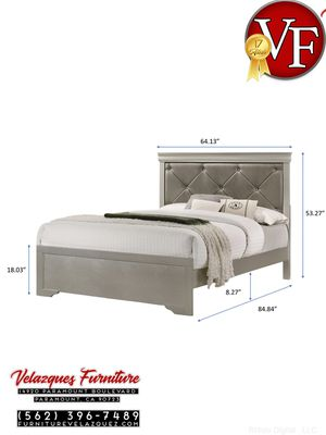**TODAY ONLY** FULL PANEL BED SILVER COLOR $235 for Sale in Pomona, CA