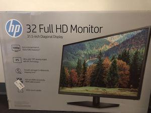 "HP 32"" IPS Panel 1920x1080 VGA HDMI 60hz 5ms Full HD LED Monitor for Sale in Buffalo, NY"