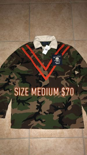 Men's Polo Ralph Lauren Camo Rugby Shirt Size Medium Brand New With Tags for Sale in Queens, NY