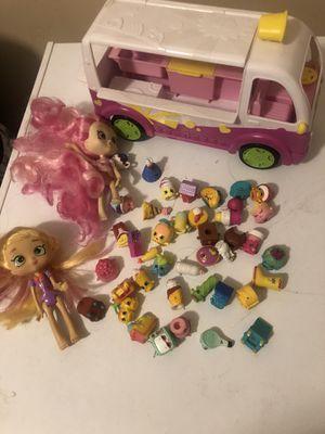 Shopkins ice cream cart,2 shopkin dolls, 41 shopkin collectibles for Sale in Chula Vista, CA
