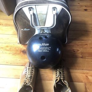 AMF Bowling Ball W/ Case And Shoes for Sale in Brocton, IL