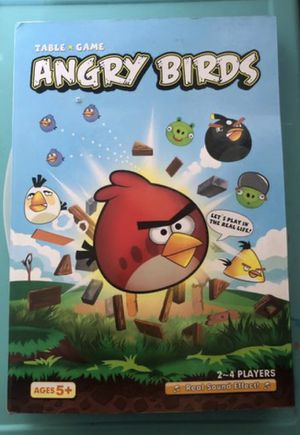 Angry Birds Table Game Board Game Complete Figures Miniatures Action Kids for Sale in Irvine, CA