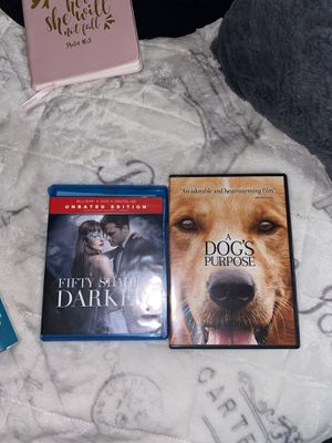 Fifty shades darker unrated Edition & a dogs purpose movies for Sale in Fontana, CA