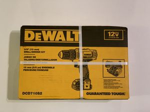 DEWALT 12-Volt MAX Lithium-Ion Cordless 3/8 in. Drill/Driver Kit DCD710S2 for Sale in Garden Grove, CA