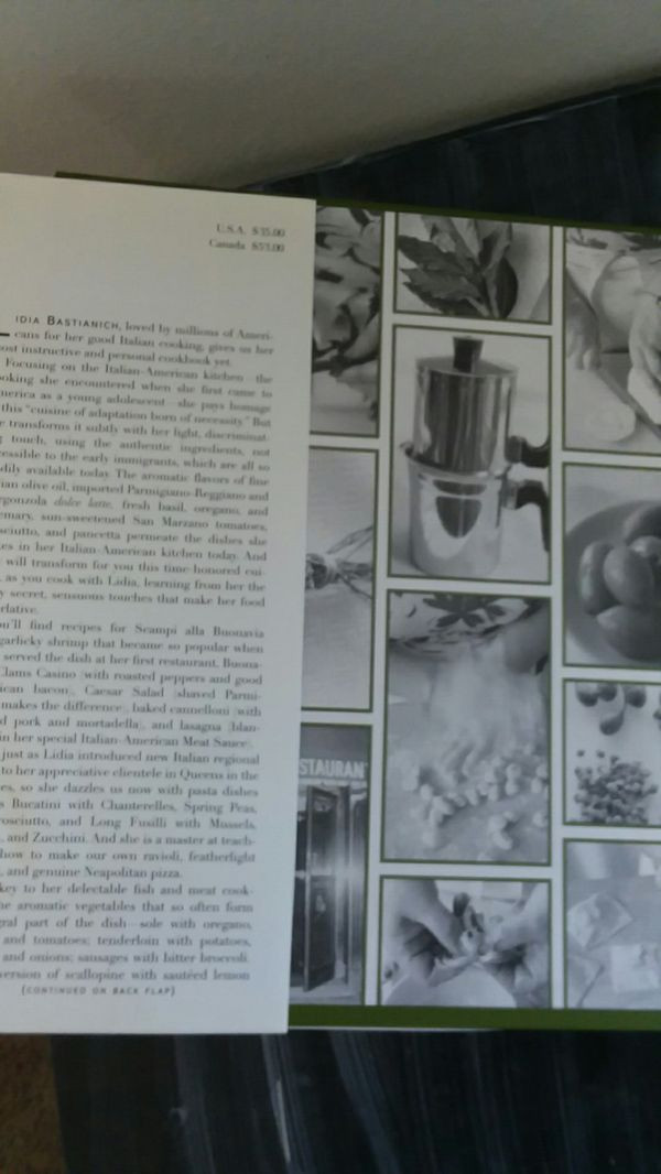 Cookbook Lidias Italian American Kitchen