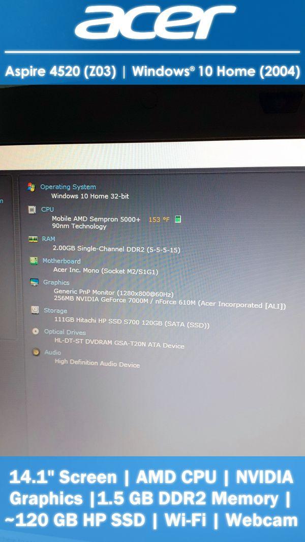 "14.1"" Acer Aspire PC   Laptop Computer   Windows 10 Home"