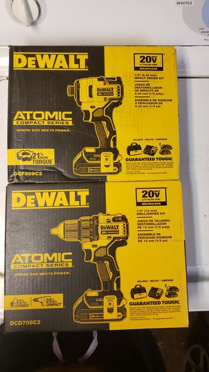 Brand New Dewalt 1/2 Drill/Driver Kit & 1/4 Impact Driver Atomic Series. for Sale in New Haven, CT