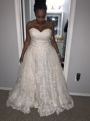 Brand new with tag still attached. Never worn wedding dress size and 12 for Sale in Austell, GA