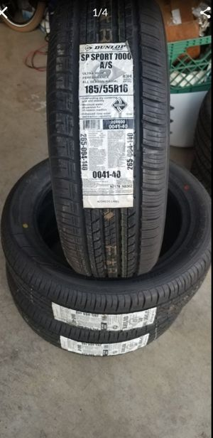 Tires Dunlop 185/55/16 for Sale in Modesto, CA