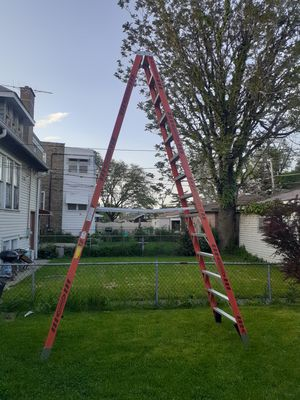 Werner 14 ft. Fiberglass Twin Step Ladder with 300 lb. Load Capacity Type IA for Sale in Chicago, IL