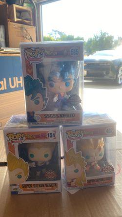 Dragonball Z&Super Pop Animation Set: Vegito, Vegeta, Goku for Sale in Corona,  CA