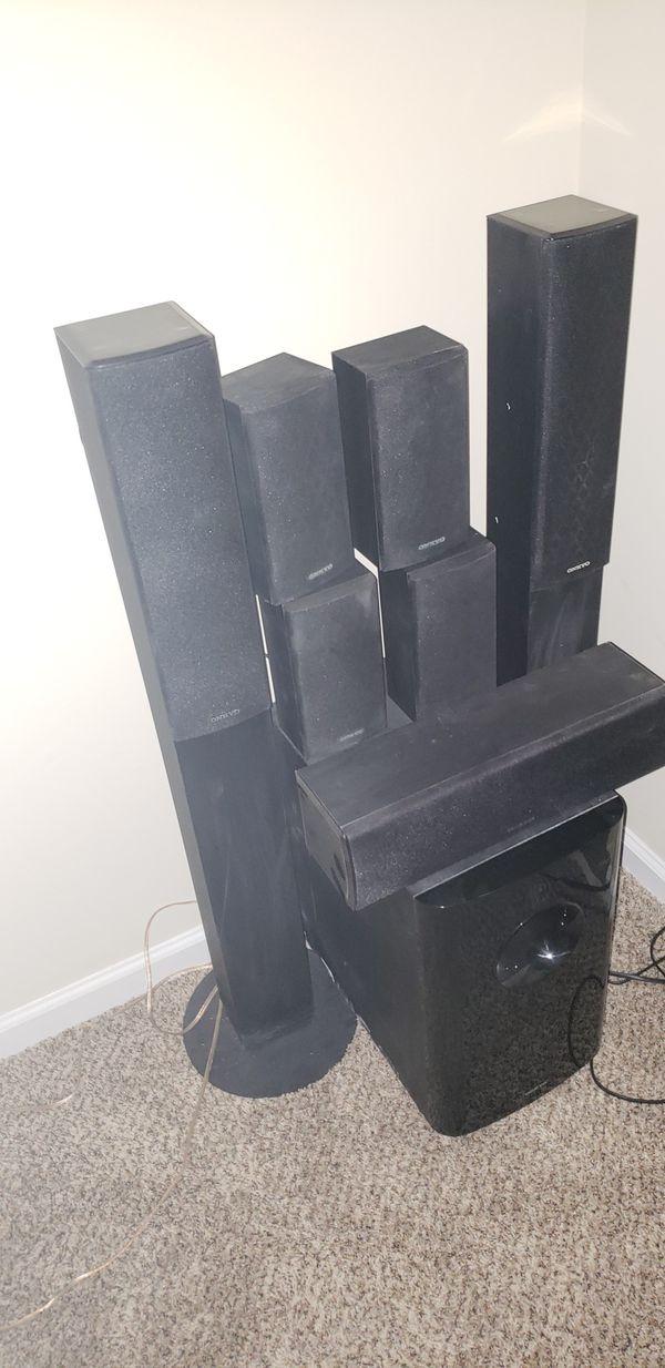 Onkyo 7.1 surround sound speakers