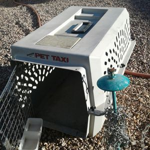 Doggie kennel plus in groundchain for dog for Sale in Las Vegas, NV