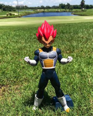 Vegeta Super Saiyan God Red 🐉 - Dragon Ball Z | DBZ DBS Super Figure Figurine Model Statue Collectible for Sale in Miami Beach, FL