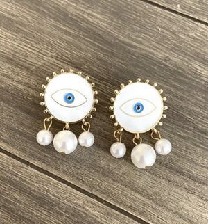 White earrings for Sale in Quincy, MA