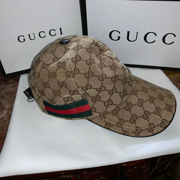 Gg brown monogram hat