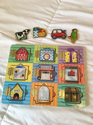 Melissa and Doug Wooden Puzzle with Doors for Sale in Fort Worth, TX