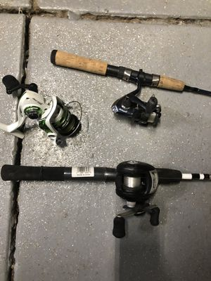 Kids fishing likes rod and reels for Sale in Los Angeles, CA