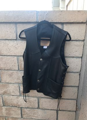 Kerr Co. motorcycle leather vest for Sale in Rancho Cucamonga, CA