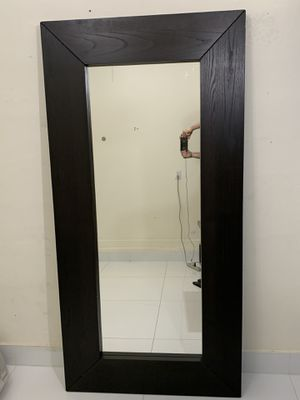 Large Wall Mirror Floor Leaning Standing Hanging Full Length Glass Wood Frame Rectangular for Sale in Doral, FL