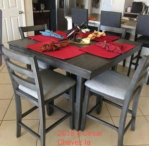 Grey counter high table set for Sale in Los Angeles, CA