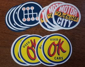 3 inch Stickers: OK used cars, Detroit Motor City, Detroit for Sale in Chicago, IL