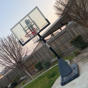 "Wind Resistant Spalding NBA 54"" Portable Angled Basketball Hoop with Polycarbonate Backboard for Sale in Bakersfield, CA"