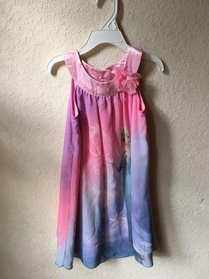 Girls Disney Elsa/Frozen Trapeze Dress Sz 5 for Sale in Palmetto, FL