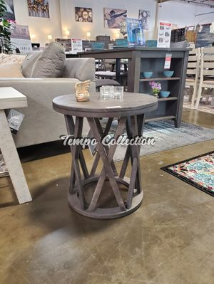Round End Table, Grey, SKU# ASHT711-6TC for Sale in Santa Fe Springs, CA