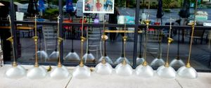 9 Brass hanging light fixtures for Sale in Gresham, OR