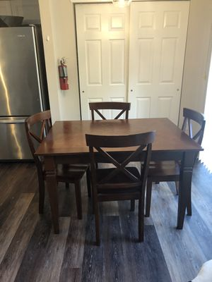 36x48 Wood table and chairs DO NOT ASK FOR # for Sale in Mount Laurel Township, NJ