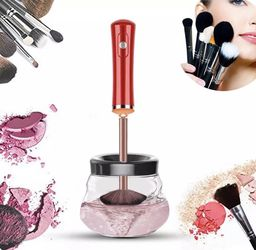 Electric Cosmetic Automatic Brush Spinner with 8 Size Rubber Collars, Wash and Dry in Seconds, Deep Cosmetic Brush Spinner for Makeup Brushes for Sale in Saint Charles,  MO