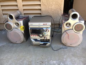 JVC stereo system with Bluetooth adapter for Sale in Poway, CA