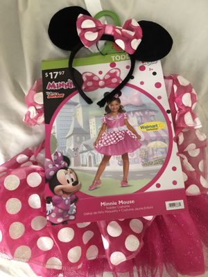 Minnie mouse dress/ costume with ears for $15 for Sale in Pennsauken Township, NJ