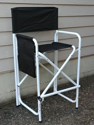 Aluminum Frame Black Canvas Folding Director's Chair for Sale in Beaverton, OR