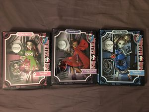 Monster high lot scarily ever after Clawdeen Draculaura Frankie for Sale in Wichita, KS