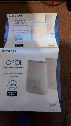 Bundle orbi wifi router 4 routers for Sale in Los Angeles, CA