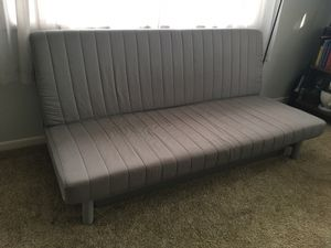 Futon size Full in Grey for Sale in Denver, CO