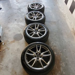 BRAND NEW MUSTANG TIRES & RIMS Pirelli P ZERO 255/ 40 ZR19 LESS THAN 100 MILES ON THEM!!! for Sale in Dallas, TX