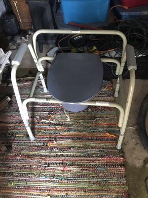Handicap Portable Toilet with detachable bucket and lid adjustable Height for Sale in Odessa, TX