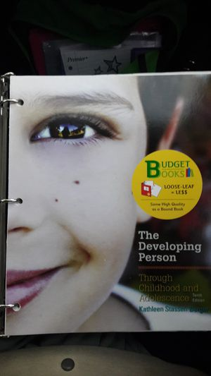 The Developing Person Through Childhood and Adolescence Kathleen Stassen Berger 10th Edition for Sale in Riverside, CA
