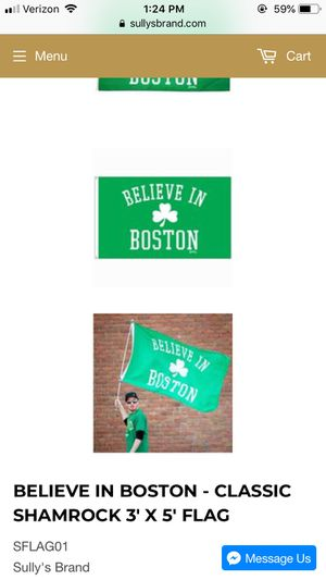 Brand new believe in Boston flag for Sale in Sudbury, MA